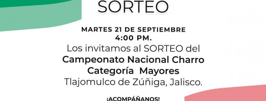 Sorteo Charros Mayores 2021