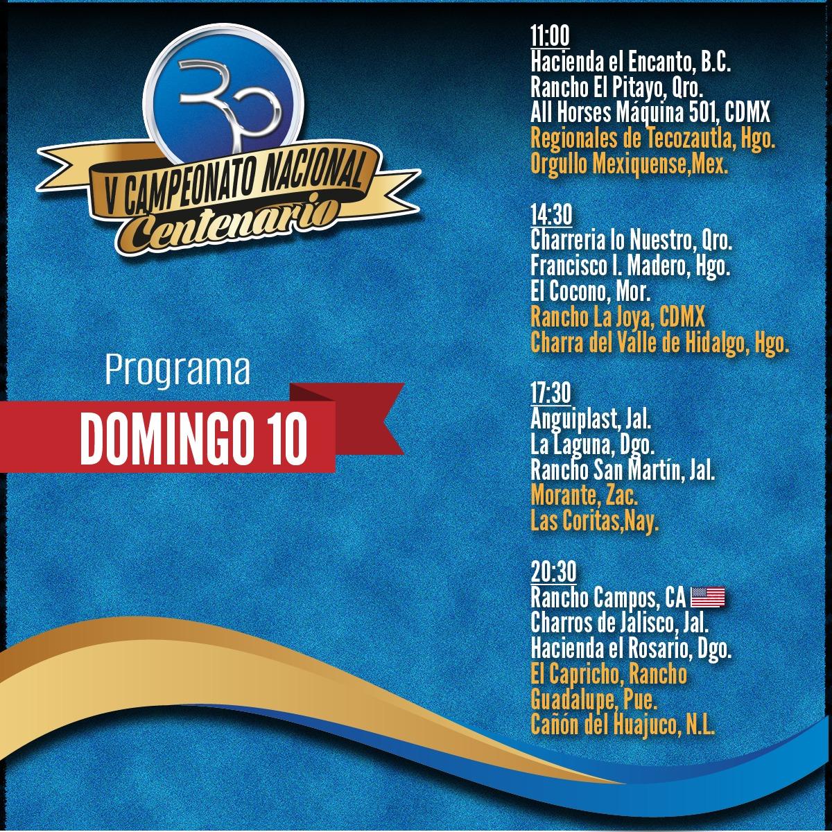 Programa Domingo 10 Pitayo