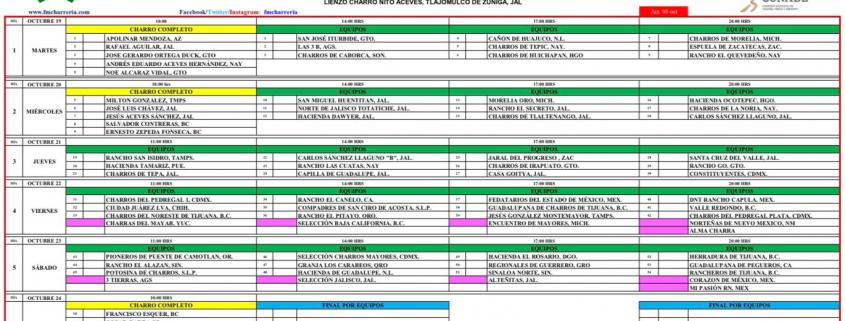 Programa de Competencias Campeonato Nacional Charros Mayores